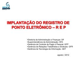 Implantação do Registro de Ponto Eletrônico