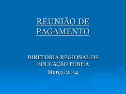 DIRETORIA REGIONAL DE EDUCAÇÃO PENHA