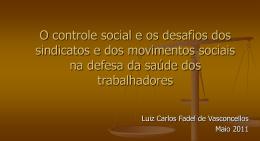 O controle social e os desafios dos sindicatos e dos