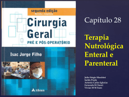 Terapia nutrologica enteral e parental