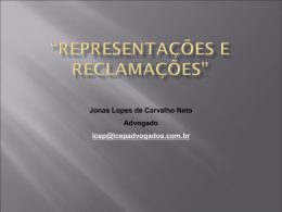 """""""REPRESENTAÇÕES E RECLAMAÇÕES"""" - TRE-RJ"""
