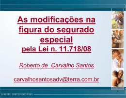 modificações na figura do segurado especial