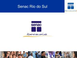 Turismo e Hospitalidade - Apresentação SENAC