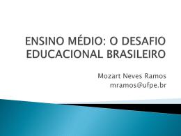 Apresentação - Mozart Neves Ramos