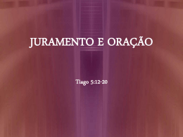 JURAMENTO E ORAÇÃO - Global Training Resources