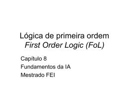 Lógica de 1a ordem