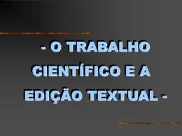 CITAÇÕES E NOTAS DE RODAPE