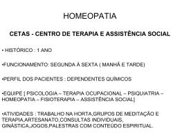 HOMEOPATIA - CASO CLÍNICO - Serviço Phýsis de Homeopatia