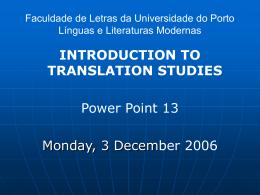 Faculdade de Letras da Universidade do Porto Línguas e
