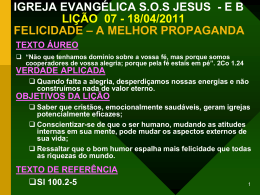 IGREJA EVANGÉLICA SOS JESUS - E B LIÇÃO 07