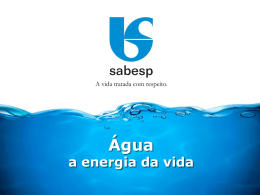 Água - a energia da vida