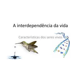 1EM - A interdependência da vida - Colégio Passionista São Paulo