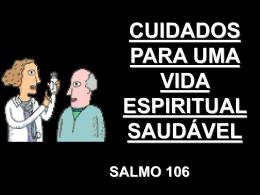 CUIDADOS PARA UMA VIDA ESPIRITUAL SAUDÁVEL