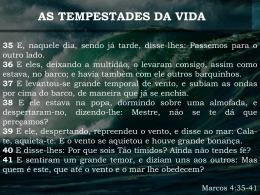 AS TEMPESTADES DA VIDA NOS BASTIDORES DA DOR