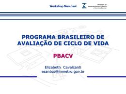 programa brasileiro de avaliação de ciclo de vida pbacv