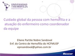 Cuidado global da pessoa com hemofilia e a atuação do enfermeiro