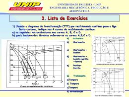 3. Lista de Exercícios UNIVERSIDADE
