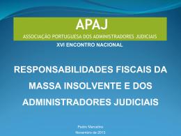 responsabilidades fiscais da massa insolvente e dos