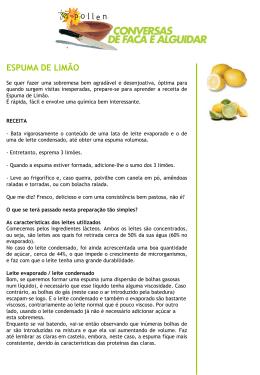 Espuma de limão