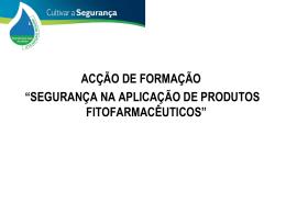 Segurança do Aplicador de Produtos Fitofarmacêuticos