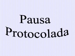 Pausa protocolada