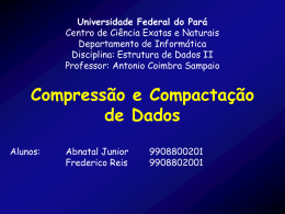 Por que comprimir ? - Universidade Federal do Pará