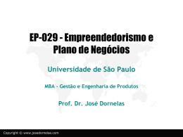 empreendedorismo1 - Empreendedorismo – Prof. José Dornelas