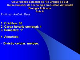 5. Etapas da meiose - Professor Antônio Ruas