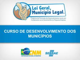 Slides curso Desenvolvimento Municipal