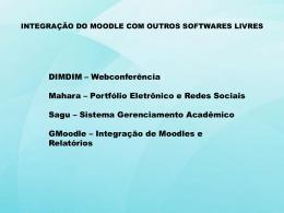Integração do Moodle com outros softwares livres