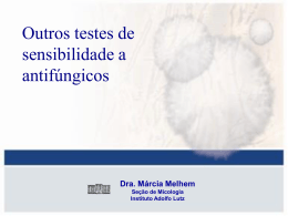 Outros testes de sensibilidade a antifúngicos