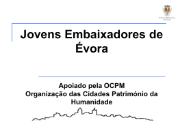 Apresentação Jovens Embaixadores de Évora