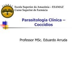 Parasitologia Clínica – Outros Apicomplexa - Página inicial