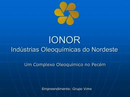 Veja a apresentação em power-point da IONOR