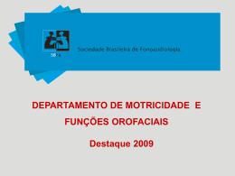 Prêmio 2009 - Sociedade Brasileira de Fonoaudiologia