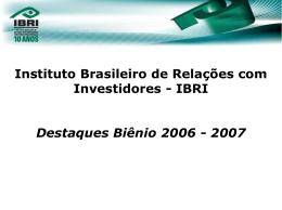 07/12/2007 Veja apresentação do Jantar de Confraternização