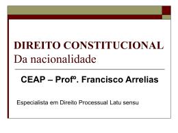DIREITO CONSTITUCIONAL Princípios Fundamentais