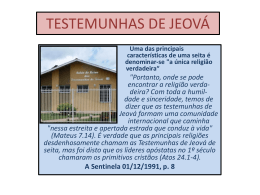testemunhas de jeová – profa rute salviano