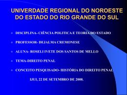 UNIVERDADE REGIONAL DO NOROESTE DO