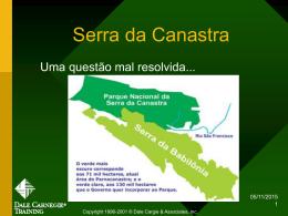 Discussão Serra da Canastra