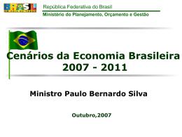 Cenários da Economia Brasileira 2007 - 2011 - Corecon-SP