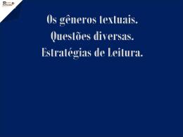 gêneros textuais exercícios