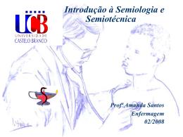 Introdução à Semiologia - Universidade Castelo Branco