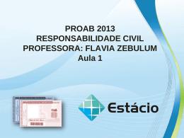 proab 2013 resposnabilidade civil – aula 01