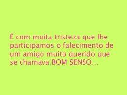 bom senso - projeto brasil