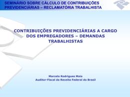 SEMINÁRIO SOBRE CÁLCULO DE CONTRIBUIÇÕES
