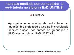 Interação mediada por computador: a web-tutoria no sistema