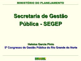 Secretaria de Gestão Pública - Congesp-RN