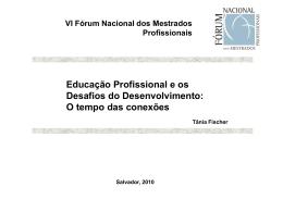 Educação Profissional e os Desafios do Desenvolvimento