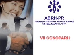 Slide 1 - ABRH - PR Regional Norte